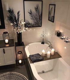 30 Adorable Contemporary Bathroom Ideas to Inspire - .- 30 entzückende zeitgenössische Badezimmer-Ideen zu inspirieren – 30 adorable contemporary bathroom ideas to … - Bathroom Goals, Bathroom Inspo, Bathroom Inspiration, Shower Bathroom, Bathroom Theme Ideas, Relaxing Bathroom, Spa Bathroom Decor, Bathtub Decor, Black Bathroom Decor