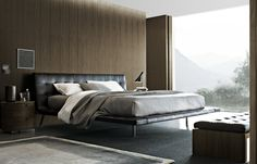 Poliform Onda bed  Onda is the last bed born by the cooperation between Poliform and the arch.Paolo Piva. The bed Onda is a modern element of decoration, characterized by strong personalization. The light structure matches with the capitonné in leather of the headboard. A true protagonist of the night room, for those who want to feel unique in their home. Onda bed is only available with fixed bedstead.  http://www.industryinterior.com/en/prod/bedroom/beds/poliform-onda-bed.html