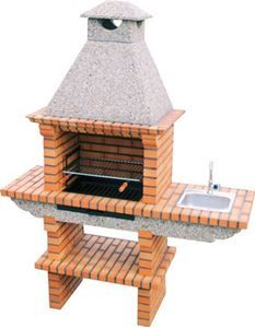 Brick BBQ with Sink and chimney 120 – Back yard grill Barbecue Design, Grill Design, Patio Design, Small Outdoor Patios, Outdoor Oven, Backyard Smokers, Backyard Patio, Grill Gazebo, Pergola