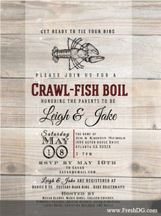 Crawfish Boil Invitation by FreshDesignGroup on Etsy, $18.00