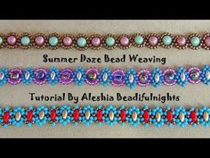 Summer Daze Bead Weaving Tutorial - YouTube