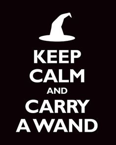 "as ""keep calm and carry on"" is one of my favorite sayings, and harry potter is just my all-time favorite everything, i want to put this on everything i own."