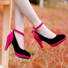 SHARE & Get it FREE | Stylish Color Block and Ankle Strap Design Women's PumpsFor Fashion Lovers only:80,000+ Items·FREE SHIPPING Join Dresslily: Get YOUR $50 NOW!