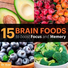 15 Brain Foods to Boost Focus and Memory - Dr. Axe : What are brains foods? These foods are rich in antioxidants, good fats, vitamins and minerals, provide energy and aid in protecting against brain diseases. Healthy Brain, Healthy Tips, Foods For Brain Health, Brain Nutrition, Health And Nutrition, Eating Healthy, Healthy Recipes, Health And Wellness, Health Fitness