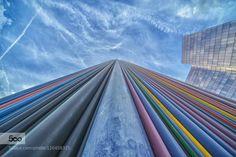 Wall of Colour - Pinned by Mak Khalaf Fine Art Parisarchitectureartbluecitycloudscolorcolourfine artsculptureskywall by tomassentpetery
