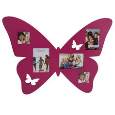HOT PINK VERY LARGE MDF BUTTERFLY MULTI APERTURE PHOTO FRAME PICTURES LAST ONE!! | eBay