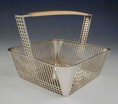 Wiener Werkstatte Silver & Ivory Basket by Joseph Hoffman