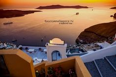 Top 5 Sunset Views Around the Aegean Islands Santorini Island, Santorini Greece, Greece Travel, Greek Islands, Crete, Europe, Sunset, Mansions, House Styles
