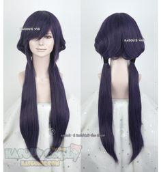 [Kasou Wig] Love Live! School Idol project Toujou Nozomi 85cm long deep purple pre-styled pigtails cosplay wig