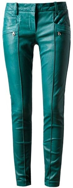 Balmain Leather Biker Trousers   my color    yes, please~