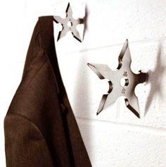 Ninja Wurfstern Kleiderhaken für Garderobe Garderobenhaken 1 Stück: Amazon.de: Spielzeug