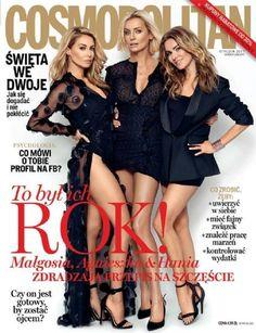 Hanna Smoktunowicz, Agnieszka Szulim, Malgorzata Rozenek, Cosmopolitan Magazine [Poland] (January 2017) (2017)