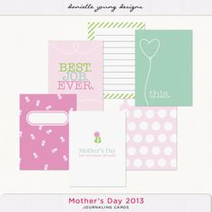 Freebies: Mothers Day Journaling Cards from Oscraps