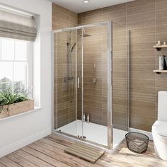 6mm Sliding Shower Enclosure 1000 x 760 with Tray
