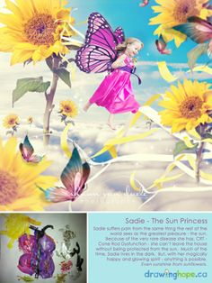 The Drawing Hope Project by Shawn Van Daele turns sick kids drawings into fairy tale photos - Sadie, the Sun Princess - 5
