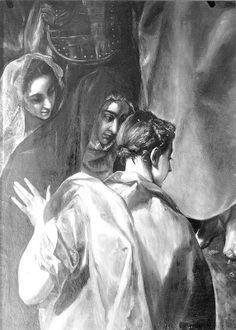 """Detalle del """"Expolio"""" con las Santas Mujeres. El Greco http://aleph.csic.es/F?func=find-c&ccl_term=SYS%3D000099603&local_base=ARCHIVOS"""