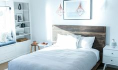 DIY Reclaimed Wood Platform Bed