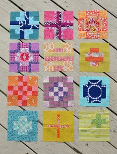 Tula City Sampler blocks 1-12 by sewcraftyjess, via Flickr