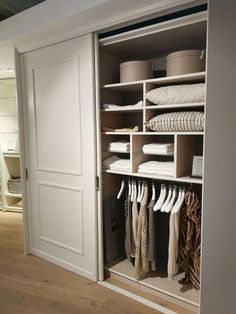 Ideas Front Closet Remodel Built Ins For 2019 Bedroom Built In Wardrobe, Bedroom Closet Doors, Bedroom Closet Design, Bedroom Cupboards, Wardrobe Design, Closet Designs, Bedroom Storage, Sliding Closet Doors, Build In Wardrobe