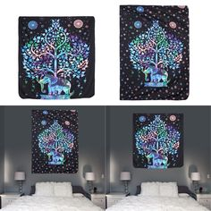 Colored Printed Decorative Elephant Tapestry ~ TapestryCorner #bedroom #livingroom #diy #handmade #best #modern #design #bohemian #beautiful #wallhanging #Colorful #tapestry #textileart #walldecoration #hippie #inspiration #decorative #interior #off #usa #flooring #office #home #decoration