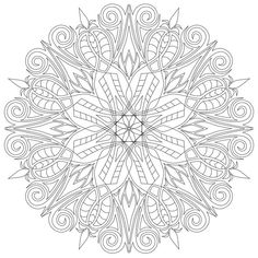 Items similar to Mandala on Etsy Pattern Coloring Pages, Adult Coloring Book Pages, Mandala Coloring Pages, Colouring Pages, Coloring Sheets, Coloring Books, Mandala Art, Mandala Drawing, Mandala Design
