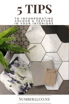 How to use colours and textures in your interior designs to help create a cohesive, finessed and liveable space