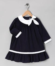 Navy Corduroy Swing Dress
