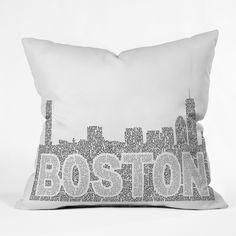 Restudio Designs Boston Skyline 1 Throw Pillow   DENY Designs Home Accessories