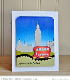 London Mouse, Adventure Is Calling, London Mouse Die-namics. London Skyline Die-namics, Rolling Hills Die-namics - Lindsay Amrhein  #mftstamps