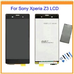 100% New For Sony Xperia Z3 D6603 D6653 L55t LCD Display with Touch Screen Digitizer Assembly + Sticker + Tools Free Shipping #clothing,#shoes,#jewelry,#women,#men,#hats,#watches,#belts,#fashion,#style