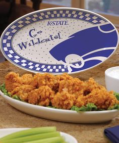 Take a look at this Kansas State Game Day Ceramic Platter by The Memory Company on #zulily today! $17 !!
