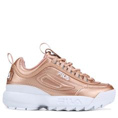best sneakers 59b28 51197 Fila Women s Disruptor Premium 2 Sneakers (Rose Gold) Mujer Rosa, Tenis,  Zapatillas