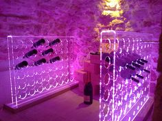 Cantinetta in plexiglass con led.