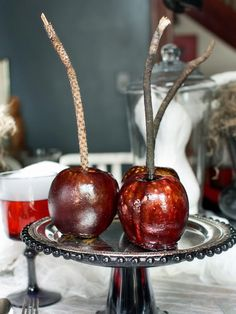 Black Poisoned Apples - 20+ Hip Halloween Decorating Ideas on HGTV