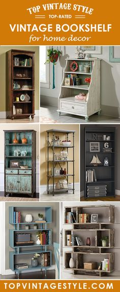 Vintage Bookshelf for home decor Vintage Bookshelf, Bookshelves, Home Decor, Vintage Bookcase, Bookcases, Decoration Home, Room Decor, Bookcase, Interior Design