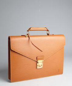 Louis Vuitton : gold epi leather 'Riviera' vintage attaché case