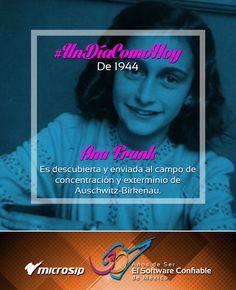 #UnDíaComoHoy 2 de septiembre pero de 1944 la niña judía, Ana Frank, tras ser descubierta, es enviada al campo de concentración y exterminio de Auschwitz-Birkenau.