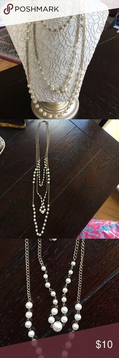 Long faux pearl necklace Super cute! Jewelry Necklaces