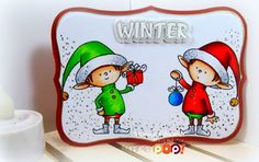 Hi crafters! Monica here with a fun Christmas card. I knowits Thanksgiving, but Christmas is my all time fave and it's cold here in Florida (for a few days) so I am trying to be festive! So I created this Winter scene using My Favorite Thi...