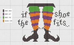 if the shoe fits cross stitch chart - no other info