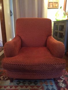Charity shop chair before reupholstering