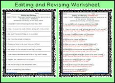 Practice proofreading skills with this editing worksheet and more ...