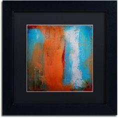 Trademark Fine Art Orange Swatch Canvas Art by Nicole Dietz Black Matte, Black Frame, Size: 11 x 11