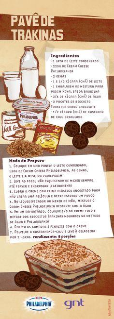 Pavê de biscoito Trakinas - Receitas - GNT