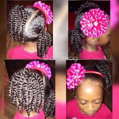 WHO said styling your princess hair has to be complicated? So @lilmissrylei_kai #HOTD is just that SIMPLE & easy! It doesn't take much to have your princess looking FABULOUS & keep her hair looking healthy. Ponytails, mini two-strand twist & a headband and out the door she goes for school. This style took all BUT 10 mins. But we like to prep the night before leaving mornings for just moisturizing and a lil sprucing up. We used our signature products: Curly Gel Moisturizer, Coconut For Curls…