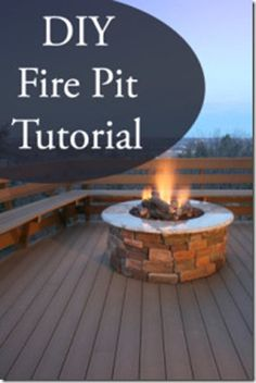 DIY-Fire-Pit-Tutorial, great outdoor furniture! #crafts #decor