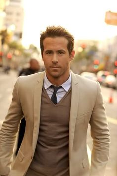 Yes, Ryan Reynolds could make a paper sack look good. But regardless, I think the style here is a good color scheme.