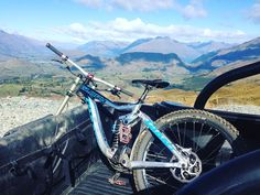 Out and about in the mountains. #Queenstown #mountainbiking