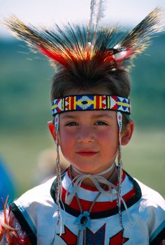 American Indian boy, Native American Powwow, The Fort, Morrison, Colorado USA
