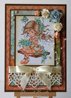 Whimsy Stamps card by Shannah Bartle using 'Emily' by Wee Stamps.